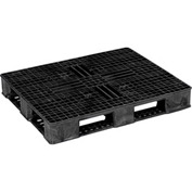 ORBIS USDA Double Sided Rackable Plastic Pallet Black 40 x 48