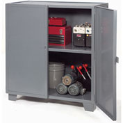 "Jamco Extra Heavy Duty Storage Cabinet MH460-GP - Welded 12 Gauge 60""W x 36""D x 54""H Gray"