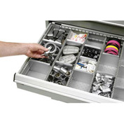 """Rousseau Metal Drawer Divider Kit for 30""""W Modular Drawer Cabinet, 4"""" Drawer Height, 16 Compartments"""