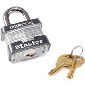 "Master Lock® Keyed Padlock 3/4"" Shackle Keyed Different - Pkg Qty 3"