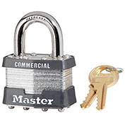 "Master Lock® Keyed Padlock - 15/16"" Shackle - Keyed Different - Pkg Qty 3"