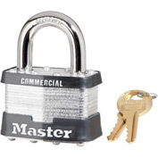 "Master Lock® Keyed Padlock - 1"" Shackle - Keyed Alike - Pkg Qty 3"