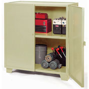 "Jamco Extra Heavy Duty Storage Cabinet MH448-AP - Welded 12 Gauge 48""W x 36""D x 54""H Putty"