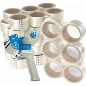 3M 36 Carton Sealing Tape 371 48m x 50mm 1.9 Mil Clear + FREE Dispenser