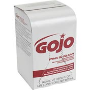 GOJO Pink Lotion Soap 800 mL Box Soap - 12 Refills/Case 9128-12