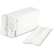 "Boardwalk C-Fold Paper Towels 10"" x 12-1/4"", Bleached White 200 Sheets/Pk 12Pks/Case - BWK6220"