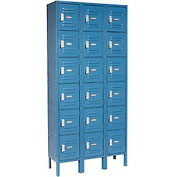 Infinity™ Locker Six Tier 12x12x12 18 Door Assembled Blue
