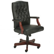 Boss Executive Office Chair - Vinyl - High Back - Black