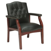 Boss Executive Office Chair - Vinyl - Mid Back - Black