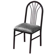 Fabric Cafe Chair Gray