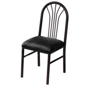 Vinyl Cafe Chair Black