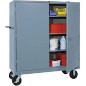 Lyon Heavy Duty Mobile Storage Cabinet DD1170 - 60x24x68 - Gray