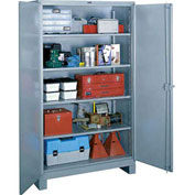 Lyon Heavy Duty Storage Cabinet DD1145 - 60x24x82 - Gray