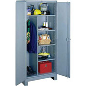 Lyon Heavy Duty Combination Storage Cabinet DD1148 - 48x24x82 - Gray