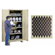 Lyon Heavy Duty Perforated Door Storage Cabinet PP1114DP - 36x21x82 - Putty