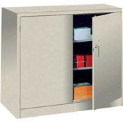 Lyon Counter Height Heavy Duty Storage Cabinet PP1110 - 36x21x46 - Putty