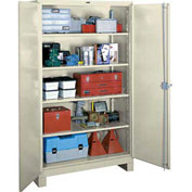 Lyon Heavy Duty Storage Cabinet PP1120 - 48x24x82 - Putty