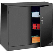 Lyon Counter Height Heavy Duty Storage Cabinet KK1110 - 36x21x46 - Black