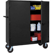 Lyon Heavy Duty Mobile Storage Cabinet KK1170 - 60x24x68 - Black
