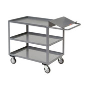 Jamco Three Shelf Order Picking Cart LO136 36x18 Tray Top Shelf