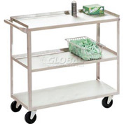Jamco Stainless Steel Utility Cart XV248 48x24x35 1200 Lb. Capacity