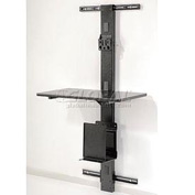 "72""H Wall Mount Unit W/Vesa Mount - Black"