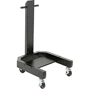 "40""H Mobile Post with Caster Base - Black"