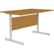"Interion® Height Adjustable Computer Desk/Table, 30""W x 24""D x 26""- 28""H, Oak"