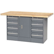 "60""W x 30""D Shop Top 8 Drawer/1 Cabinet Workbench"