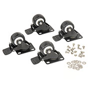"2"" Swivel Locking Caster Kit, For Global Industrial™ Network Data Rack Enclosure Cabinet"