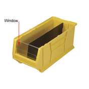 Quantum Clear Window WUS952 For Hulk Bins QUS952, 11 x 23-7/8 x 7, Price Per Package of 4