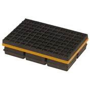 "Mason Industries WMSW8X8 Super W Pad - Neoprene And Steel Pad With Friction Pad 8"" X 8"" X 1 1/4"""