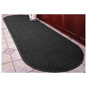 "Waterhog Grand Classic Mat Two Oval 4'W X 12'7""L Charcoal"
