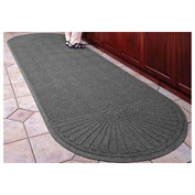 "Waterhog Grand Classic Mat Two Oval 4'W X 12'7""L Gray"