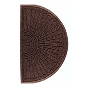 "Waterhog Grand Classic Mat Half Oval 6'W X 3'4""L Brown"