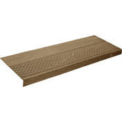 "Rubber Tread Diamond Pattern 36""W Walnut - Pkg Qty 3"