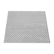 "Rubber Tile Diamond Pattern 24""W X 24""L Light Gray"