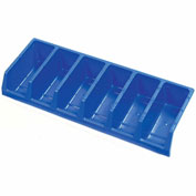 Akro-Mils System Bins™ 30312 Plastic Six Compartment Bin 33 x 12 x 5 Blue - Pkg Qty 5
