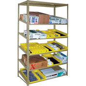 "Sloped Flow Shelving Starter 48""W x 18""D x 84""H Tan"