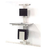 "72""H Wallmount Unit With Vesa Mount - Beige"