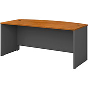 Bow Front Desk Shell In Natural Cherry - Office Furniture Groupings