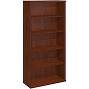 Bush Furniture Double Bookcase with 5 Shelves - Hansen Cherry - Series C