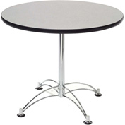 "36"" Lunchroom Table Round Gray"