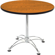 """OFM 36"""" Lunchroom Table - Round - Cherry"""