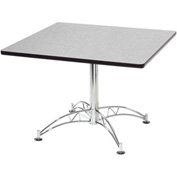 "OFM Model LT36SQ 36"" Multi-Purpose Square Table with Chrome-Plated Steel Base, Gray Nebula"