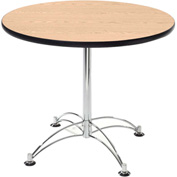 "42"" Lunchroom Table Round Oak"