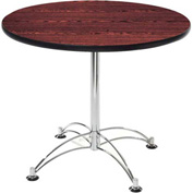 "42"" Lunchroom Table Round Mahogany"