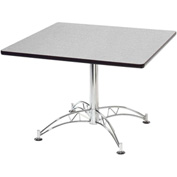 "42"" Lunchroom Table Square Gray"
