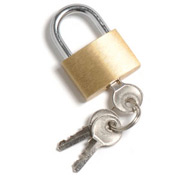 Brass Padlock With 3 Keys