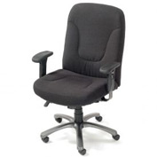 Big and Tall Office Chair with Arms - Fabric - High Back - Black